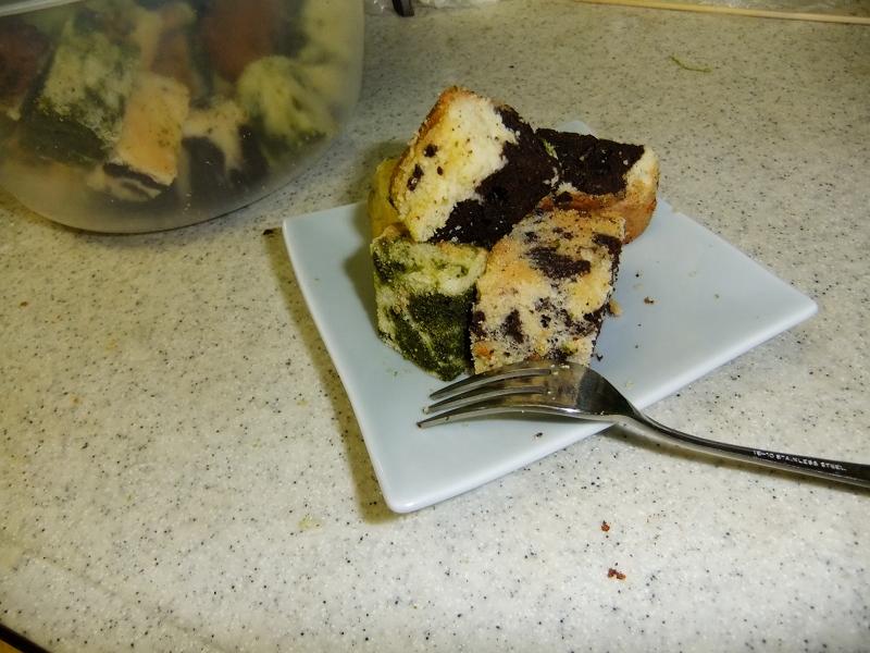 サイの目切りのケーキ